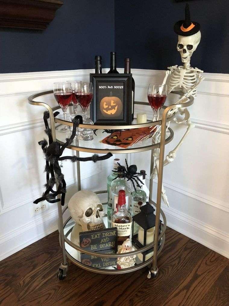 carritos de bar esqueleto