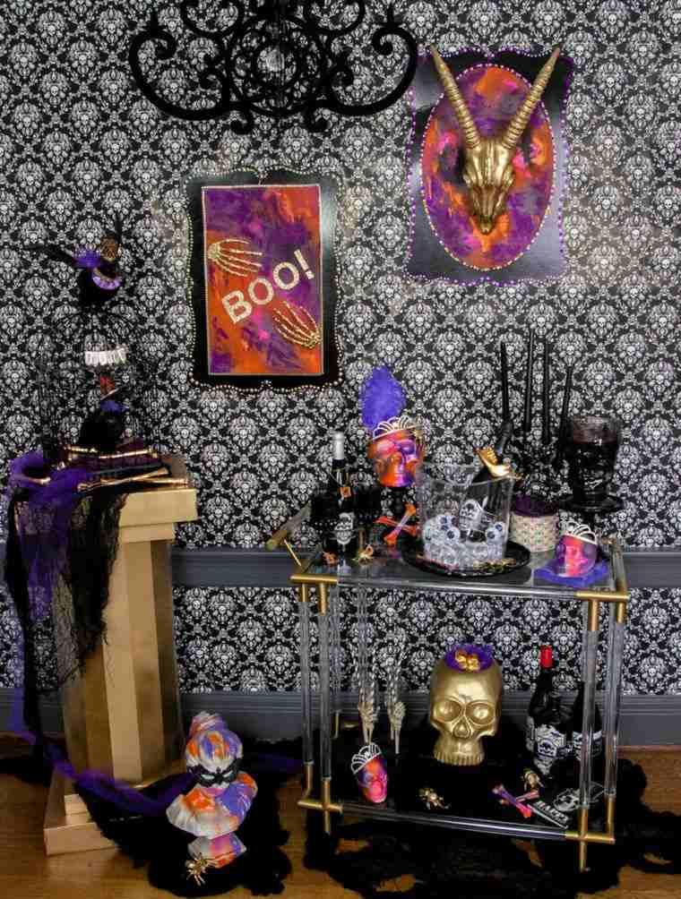 carritos de bar halloween decoracion