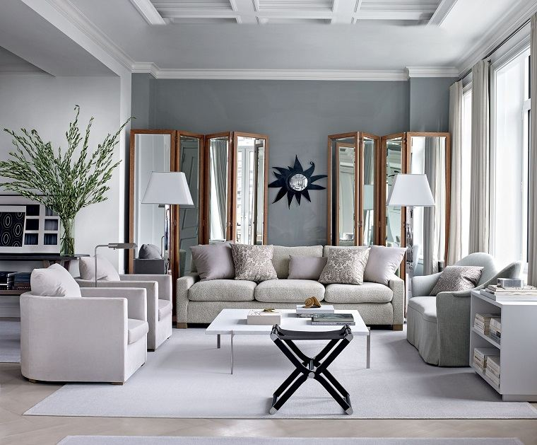 color gris-paloma-salon-dos-sofas