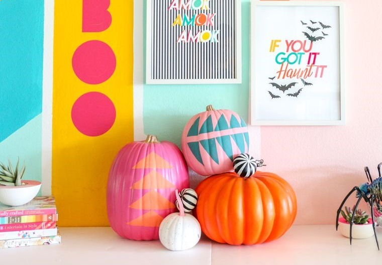 colores alegres brillantes halloween