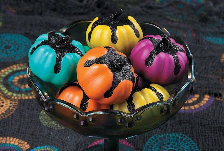 colores alegres con brillo halloween