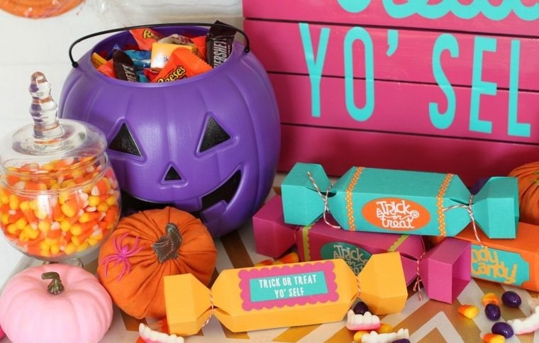 colores alegres halloween divertido