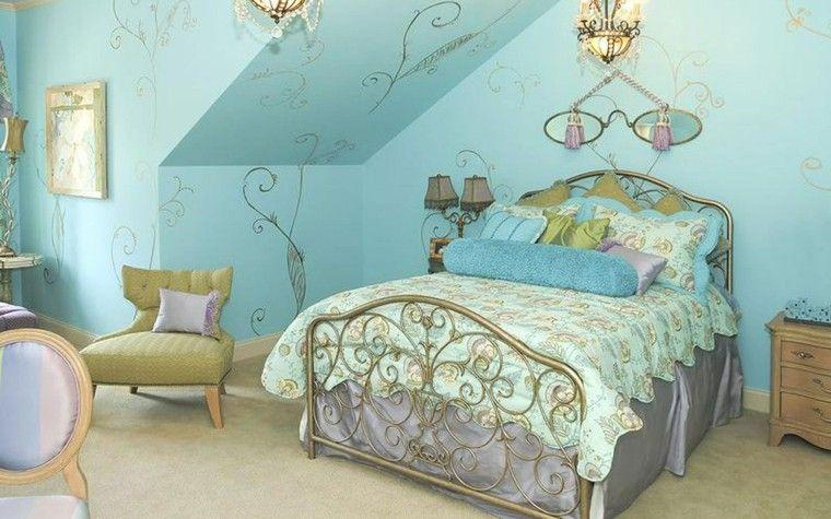 decoración vintage azul