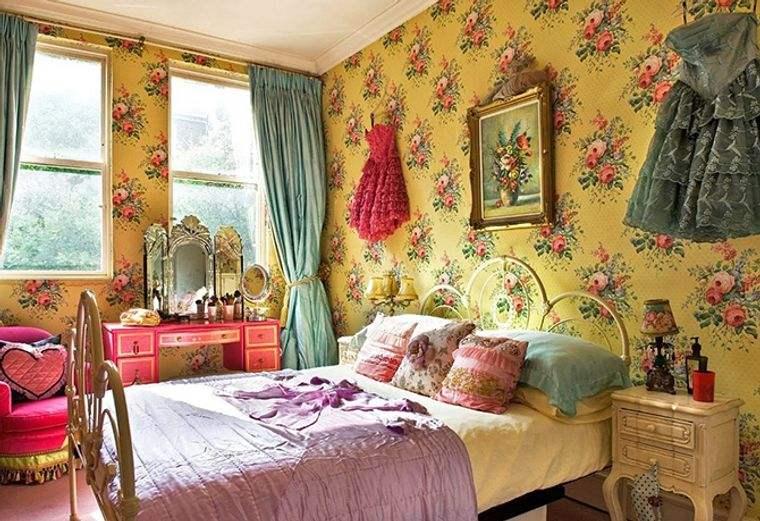 decoración vintage colorida