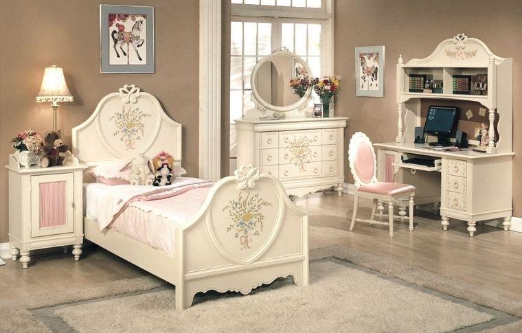 decoración vintage dormitorio niña