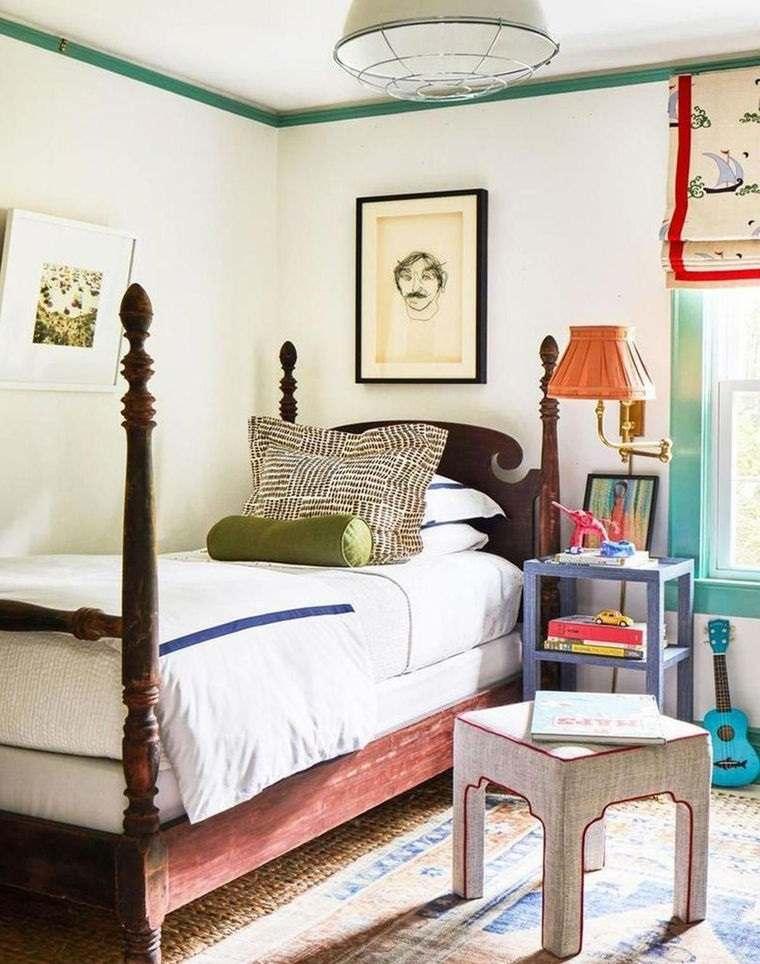decoración vintage dormitorio niño