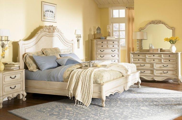 decoración vintage hermoso dormitorio