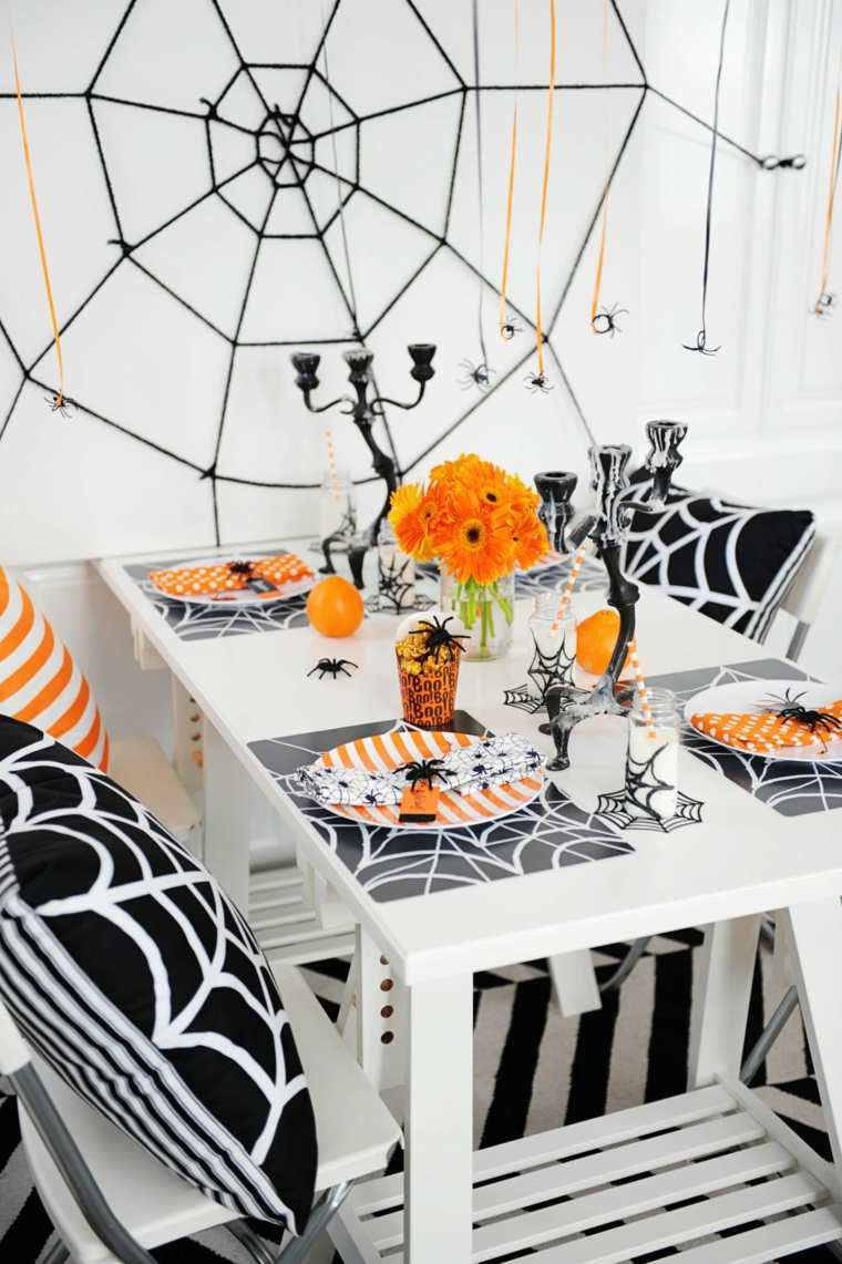 decorar-mesa-halloween-blanco-naranja-ideas