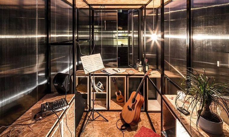 espacio de trabajo interior estudio
