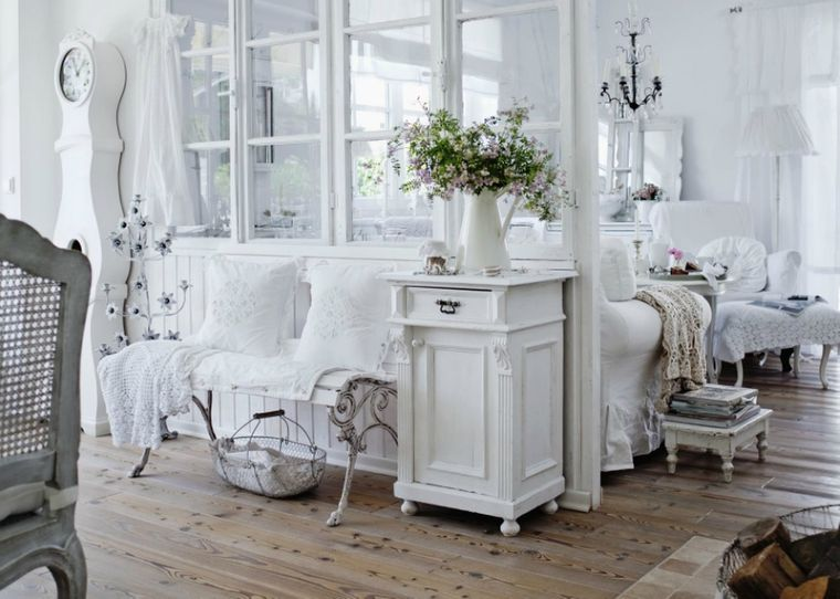 estilo shabby chic espacio en blanco
