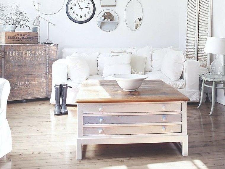 estilo shabby chic mesa madera