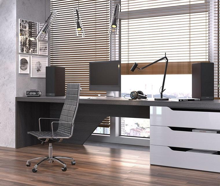 home-office-ideas-paredes-gris-paloma