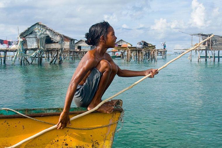 la tribu bajau niño pescador