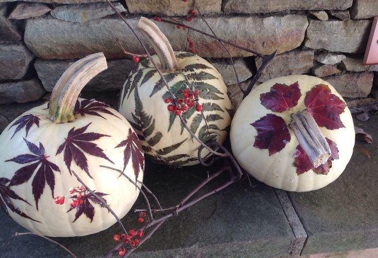 manualidades fáciles calabazas otoño