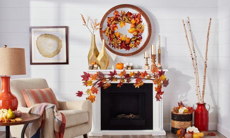 manualidades fáciles con hojas otoño