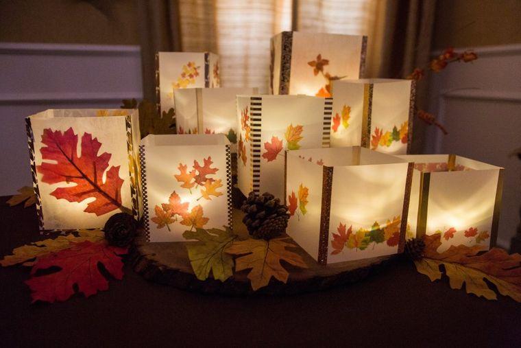 manualidades fáciles hojas velas