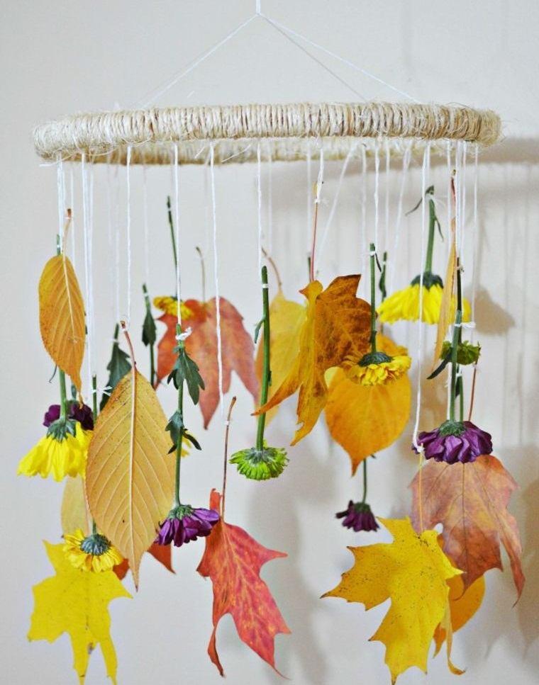 manualidades fáciles movil otoño