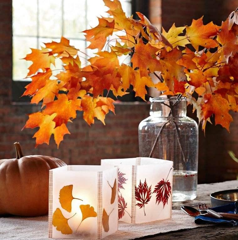 manualidades fáciles ramas otoño
