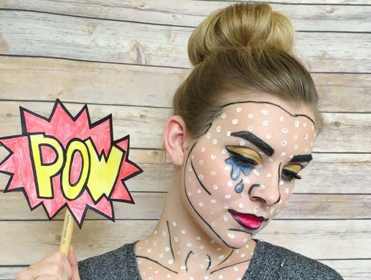 maquillaje original arte pop halloween