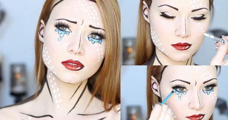 maquillaje original arte pop