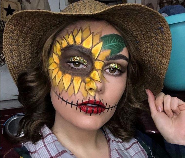 maquillaje original de espantapajaros