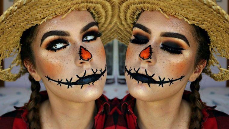 maquillaje original espantapajaros