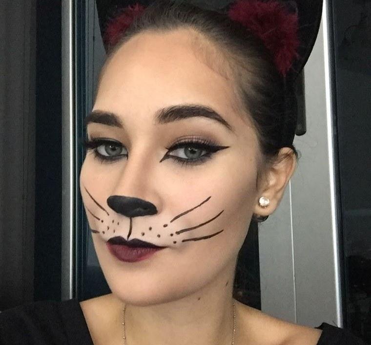maquillaje original gato