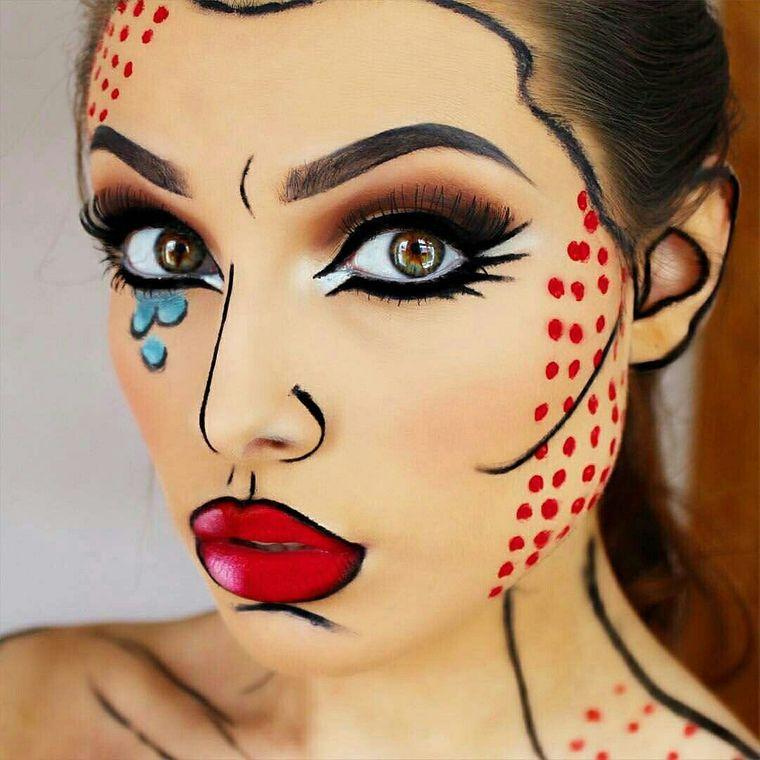 maquillaje original halloween arte pop