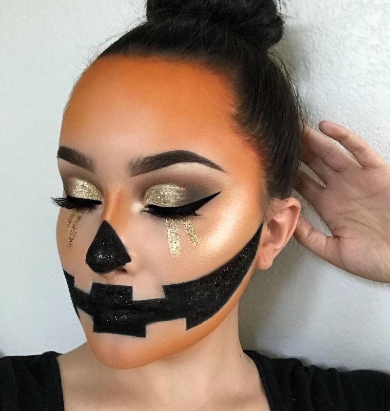 maquillaje original linterna calabaza