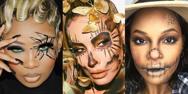 maquillaje original mujer halloween