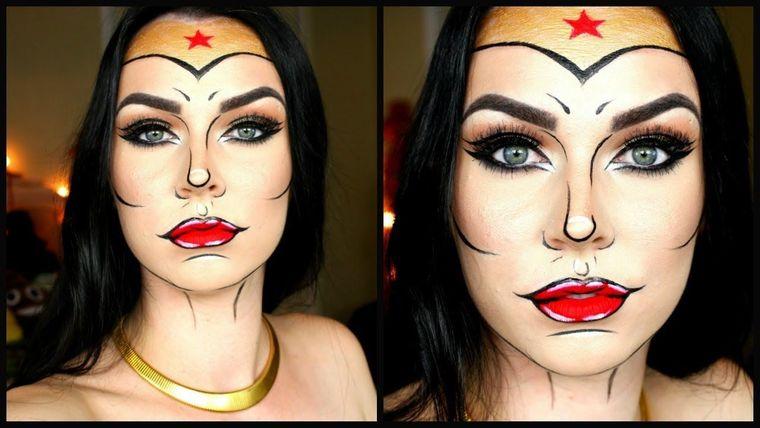 maquillaje original mujer maravilla