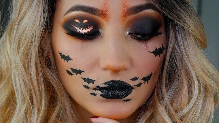 maquillaje original murcielago
