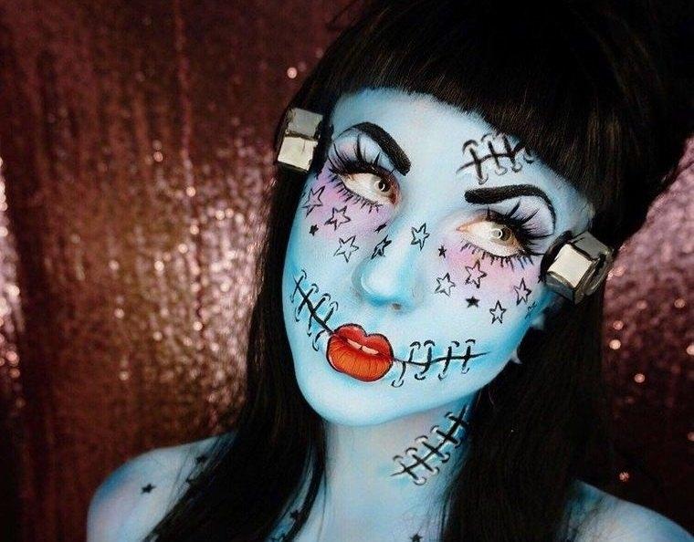 maquillaje original novia franketeins
