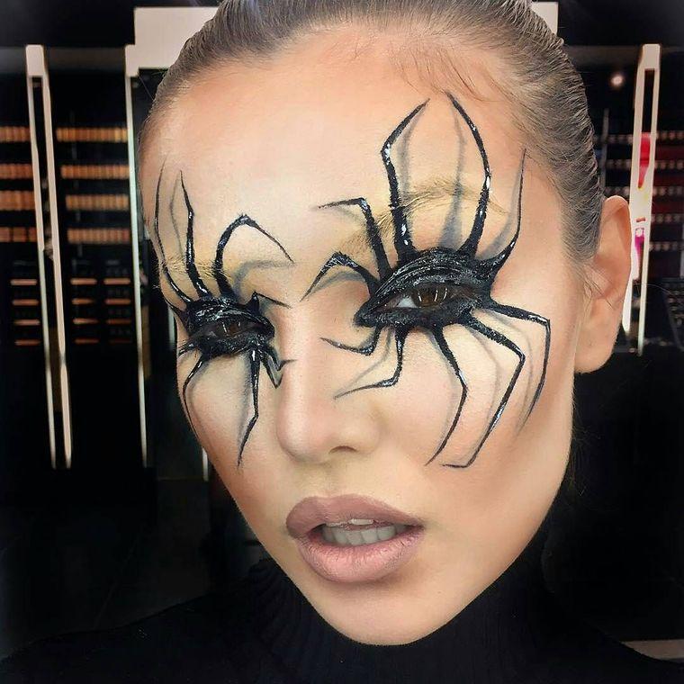 maquillaje original ojos arañas