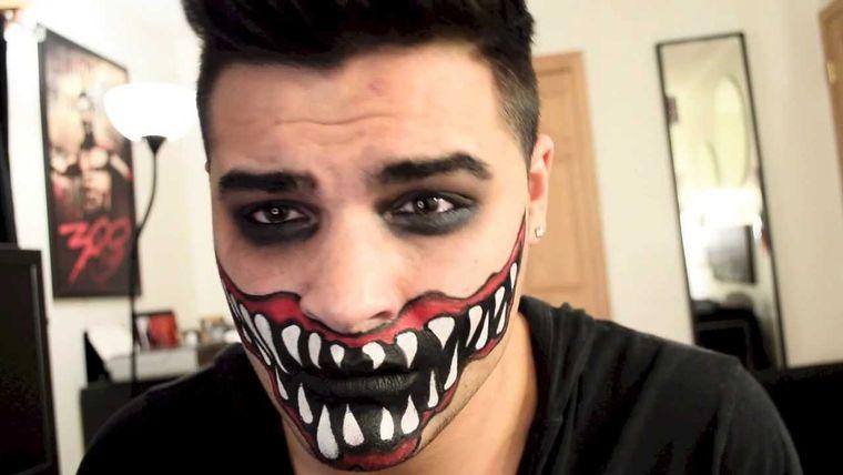 maquillaje para hombre boca alien