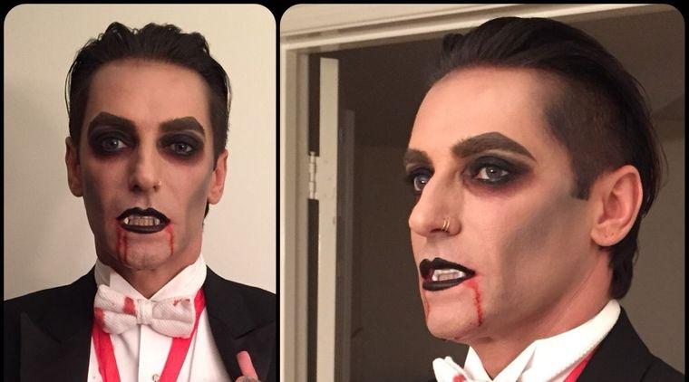 maquillaje para hombre conde dracula
