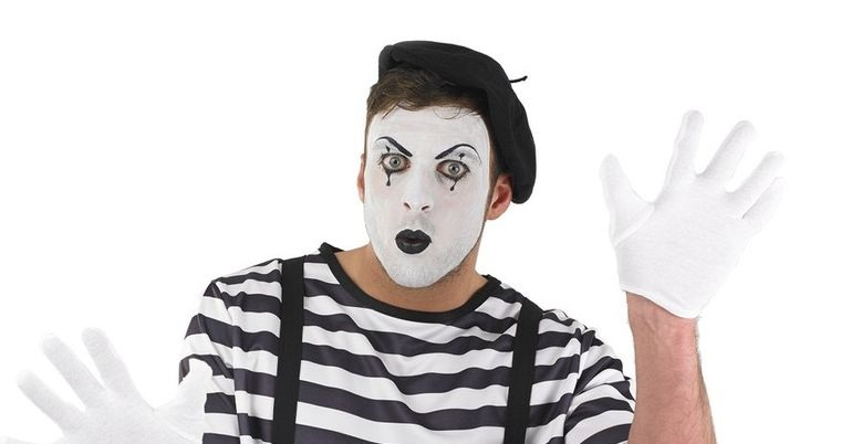 maquillaje para hombre de mimo halloween