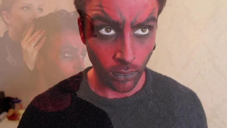 maquillaje para hombre diablos