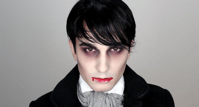 maquillaje para hombre dracula halloween
