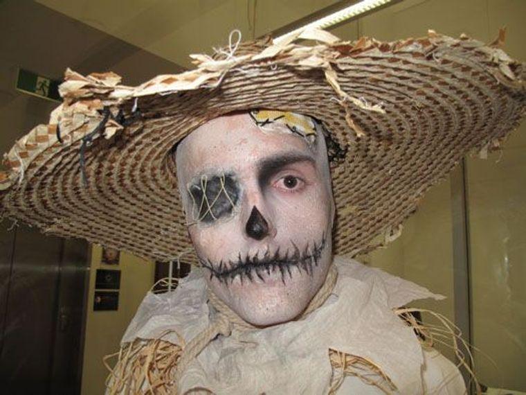 maquillaje para hombre espantapajaro halloween