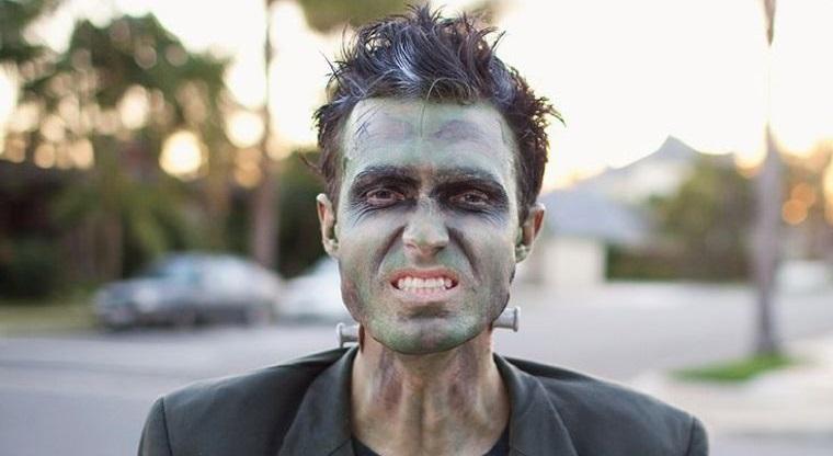 maquillaje para hombre frankenstein halloween