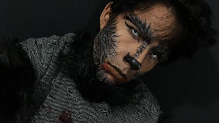 maquillaje para hombre hombre lobo