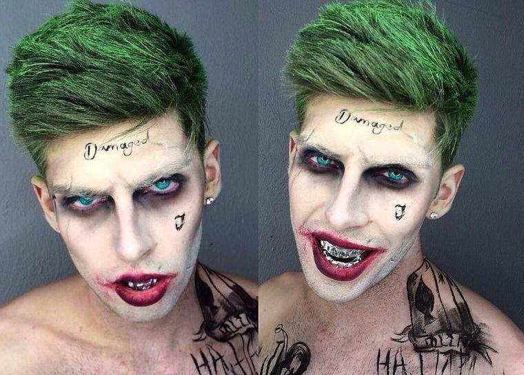 maquillaje para hombre jocker halloween