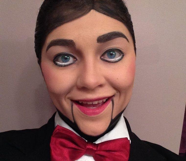 maquillaje para hombre muñeco