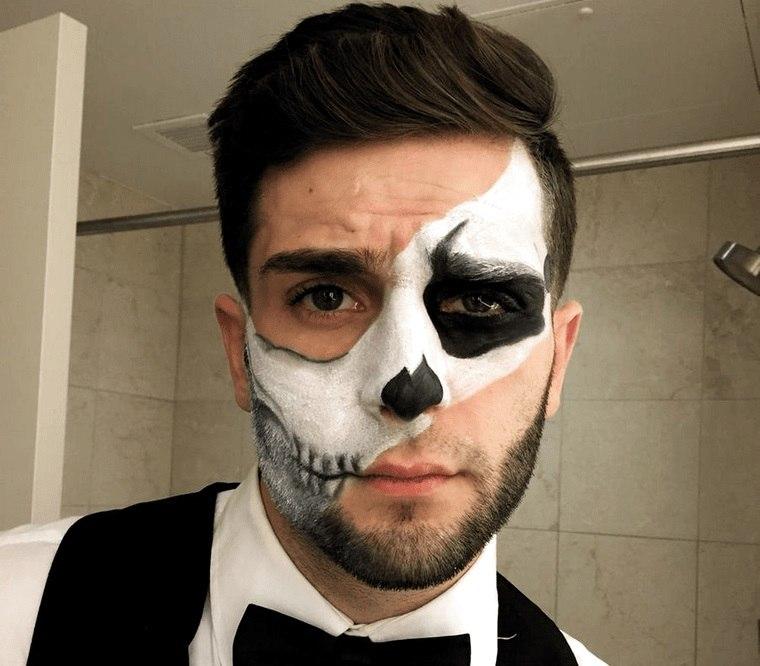 maquillaje para hombre para halloween