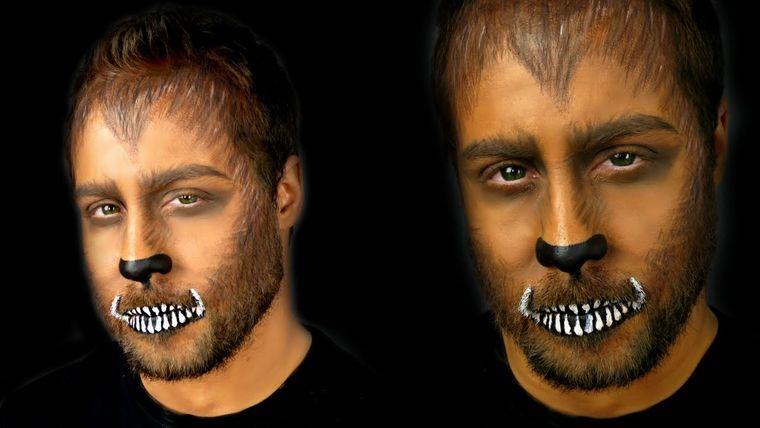 maquillaje para hombre sencillo lobo