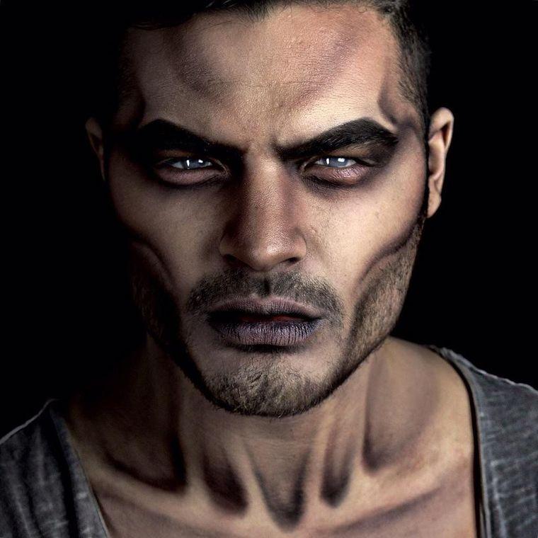 maquillaje para hombre sombra