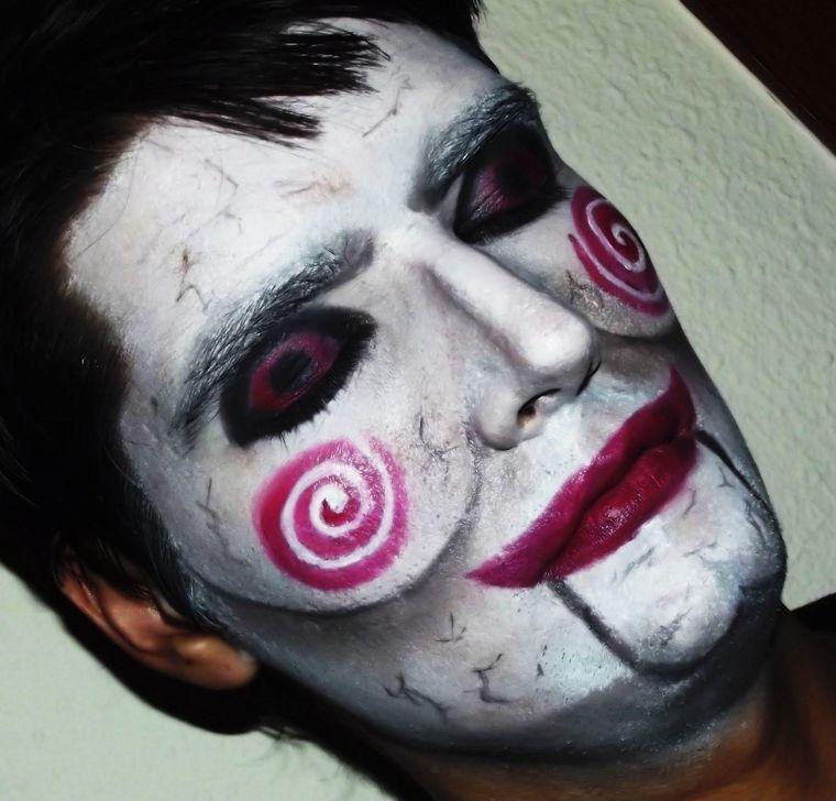 maquillaje para hombre terror