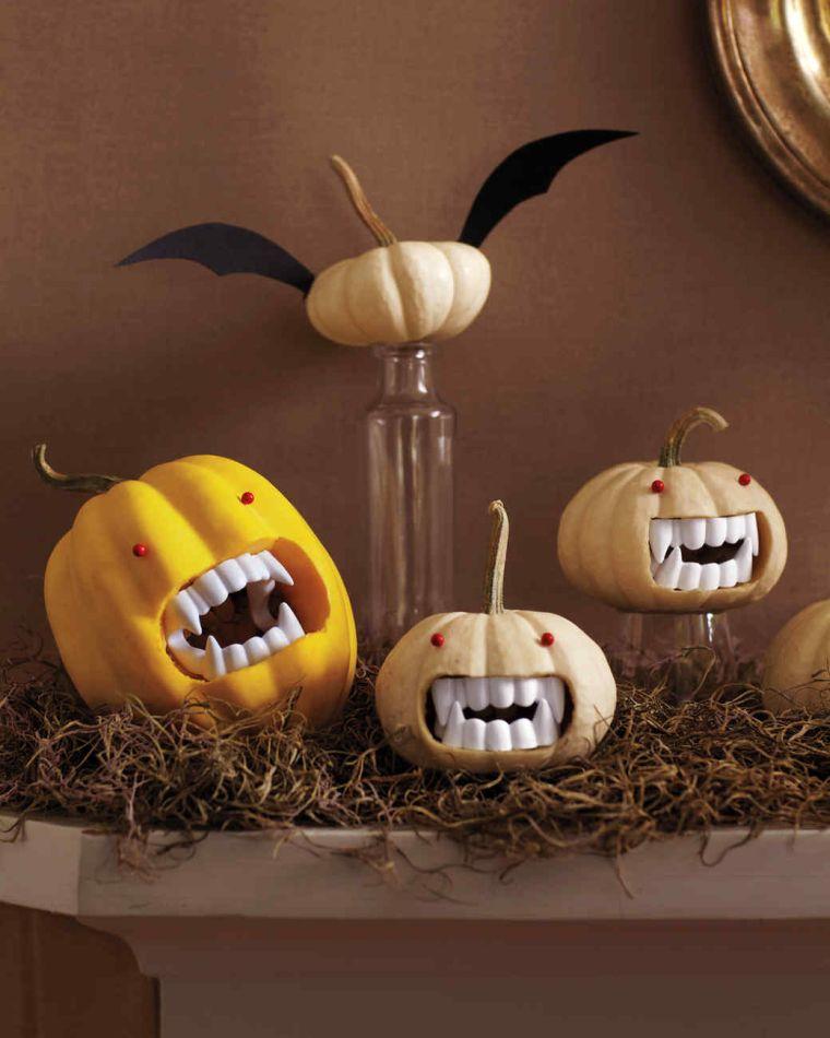 mesa-halloween-decorar-calabazas-vampiro