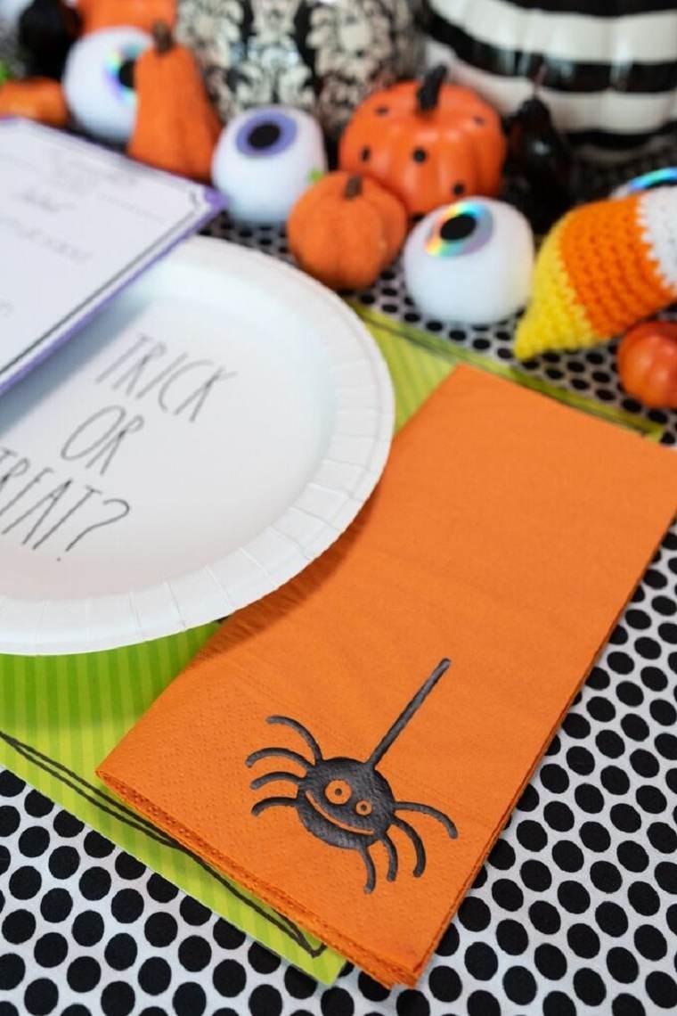 mesa halloween-estilo-servilletas